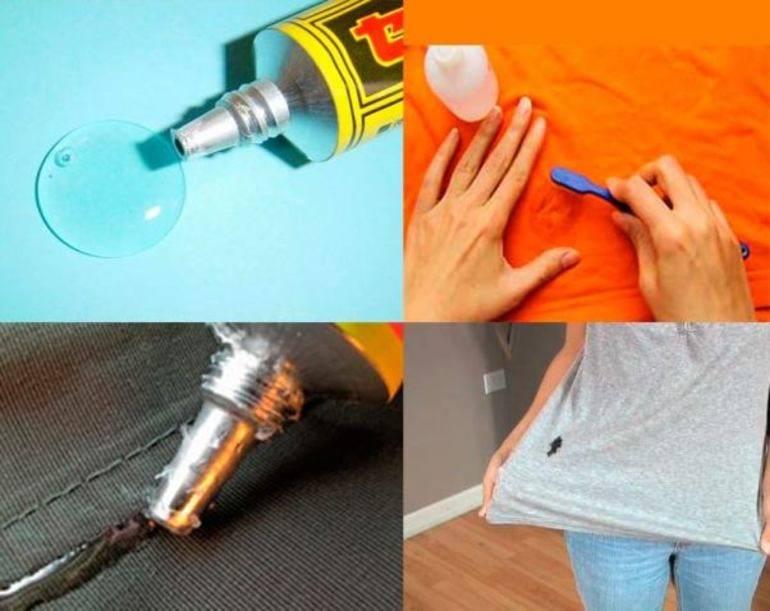 Как убрать клей с одежды в домашних условиях различными методами