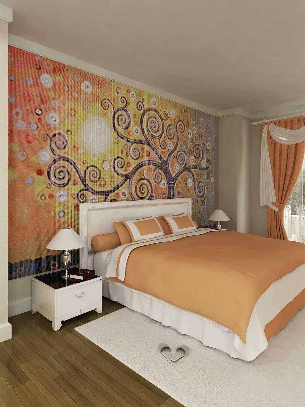 Цвет обоев для спальни картинки