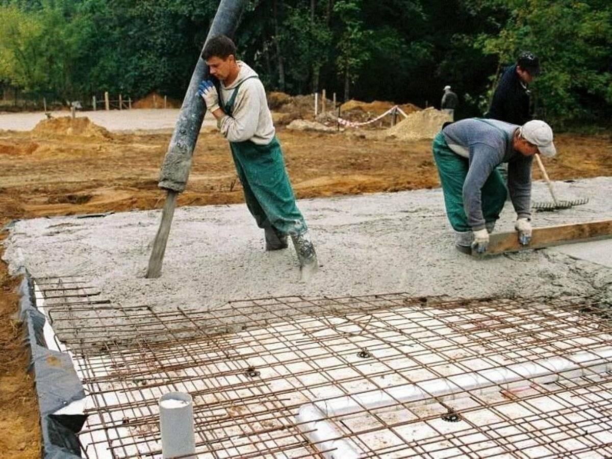 Как своими руками правильно сделать плитный фундамент