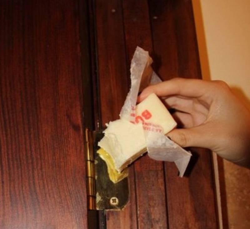 Чем смазать петлю не снимая межкомнатную дверь