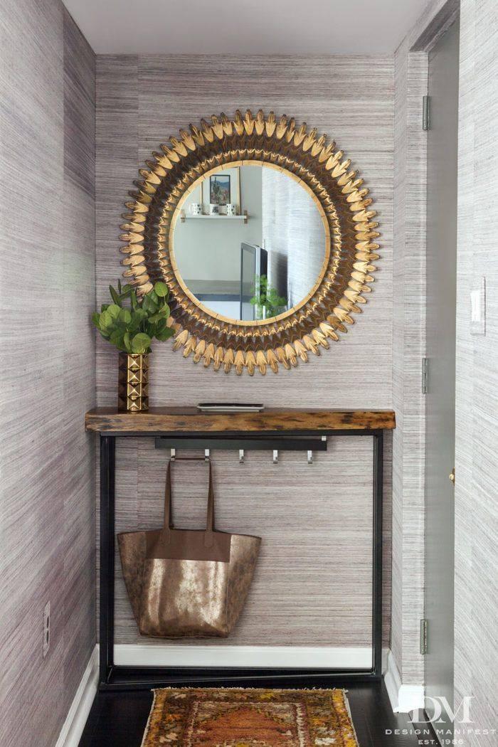 Настенное зеркало в прихожую — 30 идей для стильного интерьера