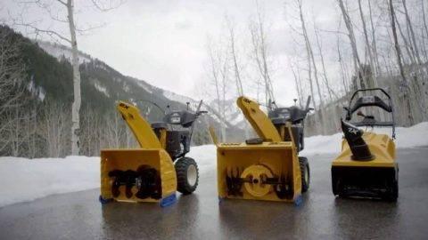Модельный ряд и характеристики снегоуборщиков cub cadet