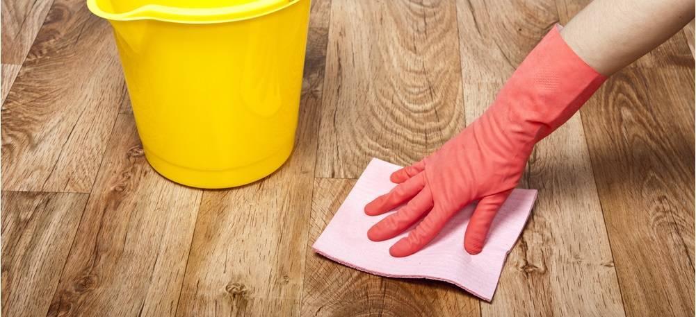 Чем отмыть линолеум после ремонта