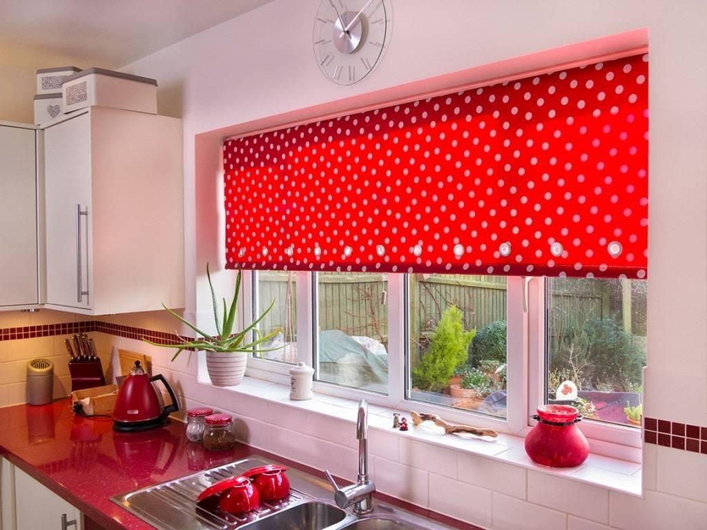 Римские шторы на кухню: виды, дизайн, цветовая гамма, комбинирование, декор