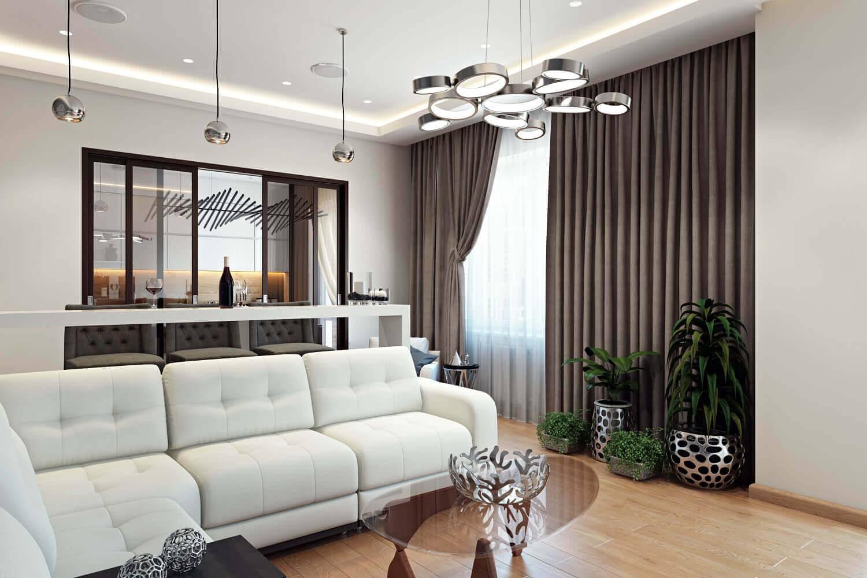 Освещение в гостиной (75 фото): как разместить светильники в зале с натяжными потолками без люстры