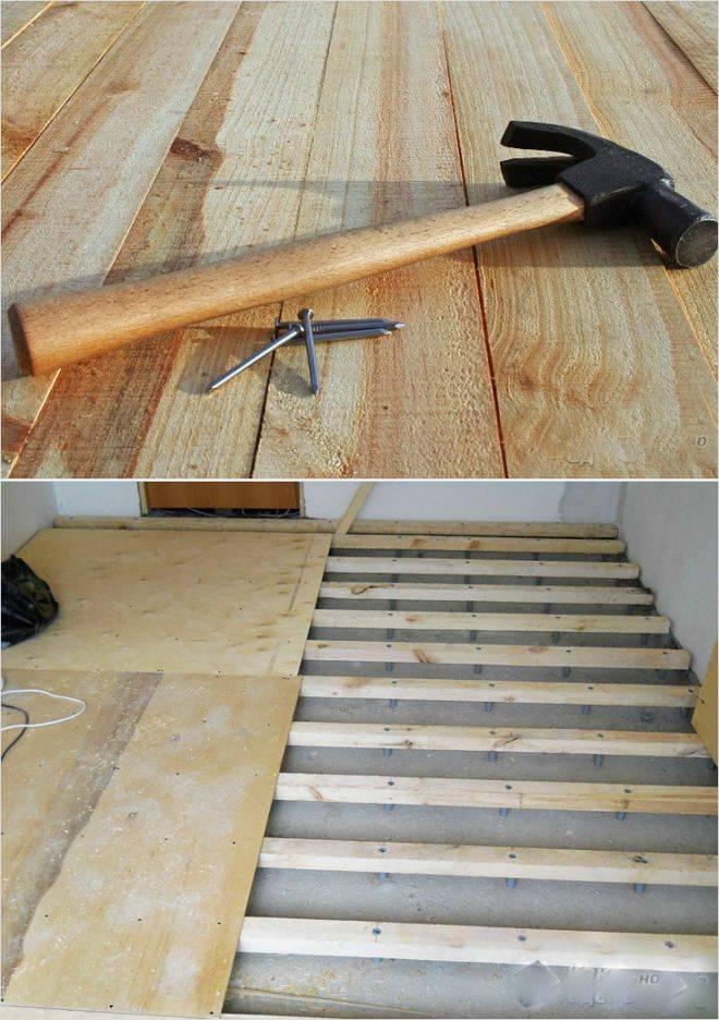 Несколько способов устранить скрип деревянного пола