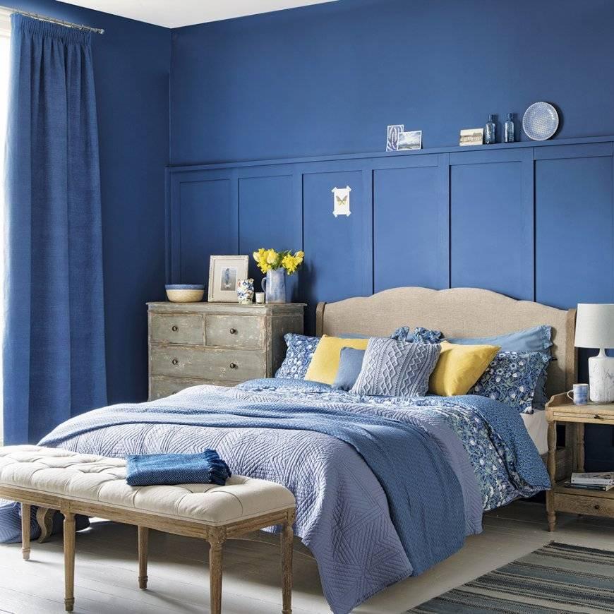 смотря картинки спален в синих тонах известно