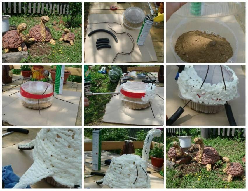 Общие правила и советы по созданию фигурок из гипса для сада своими руками