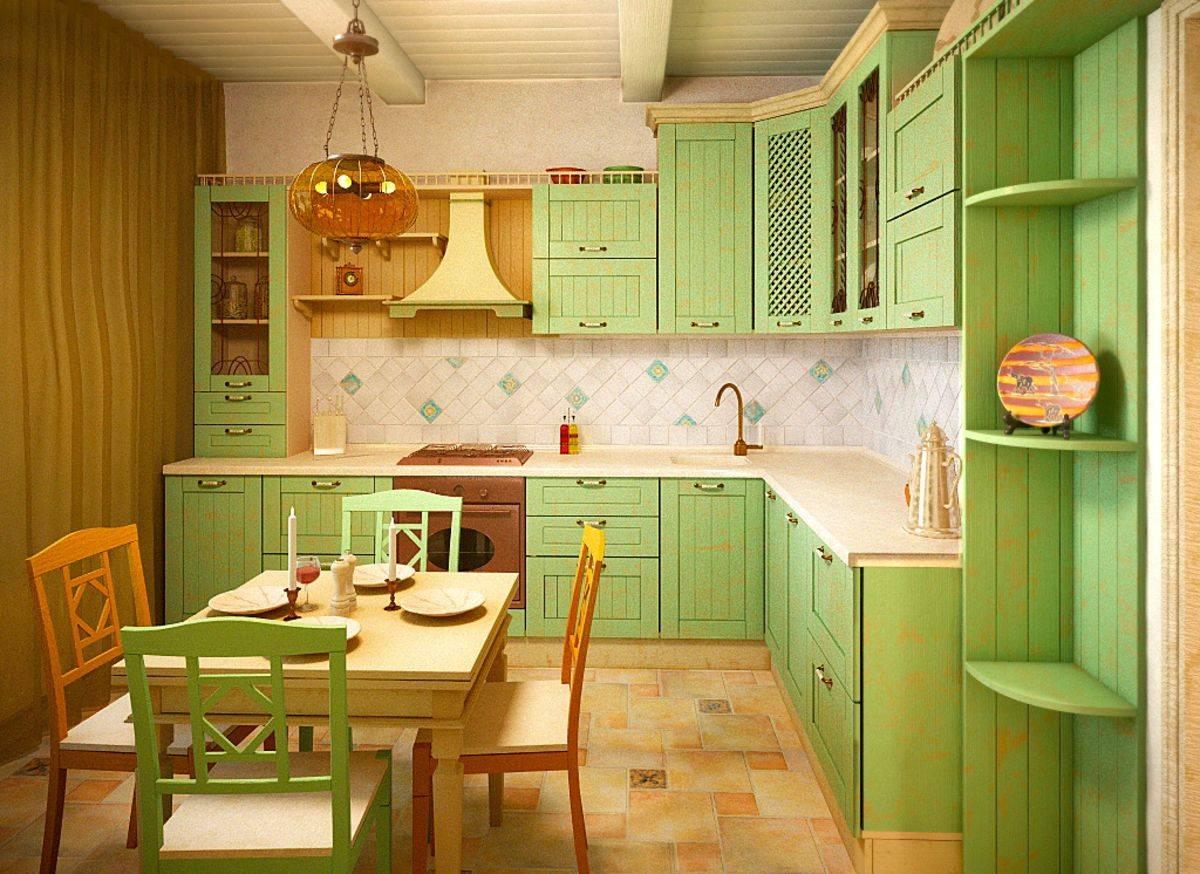 Кухня фисташкового цвета - особенности, сочетания, фото примеры