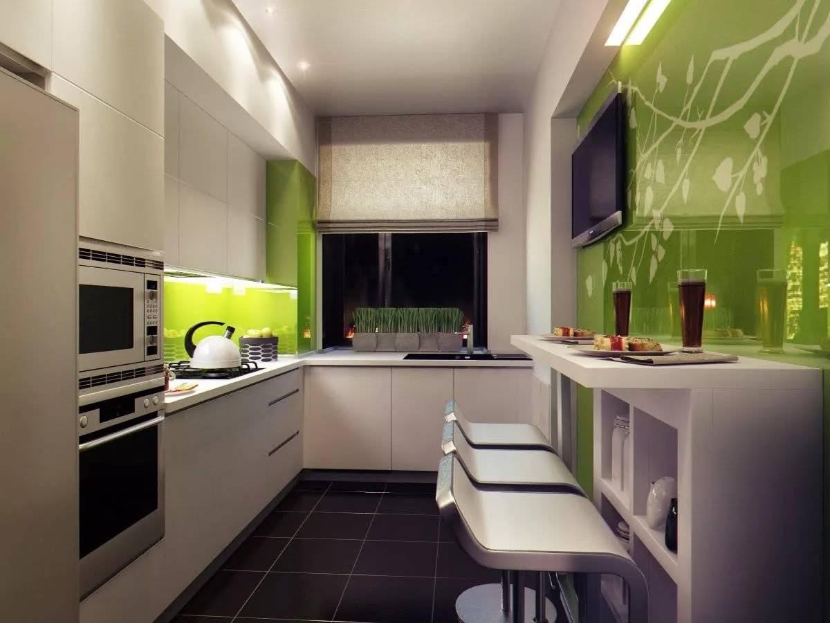 дизайн кухни прямоугольной в картинках скопировать
