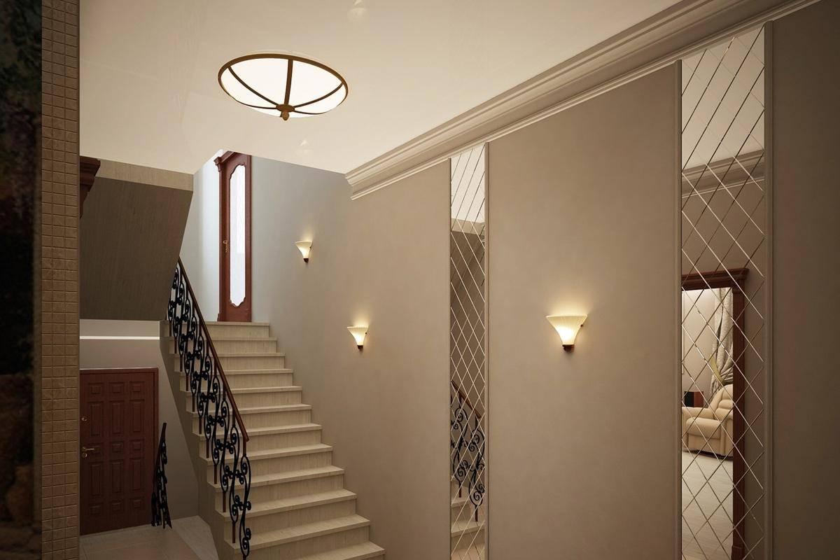 Дизайн прихожей в доме с лестницей фото него посыпались