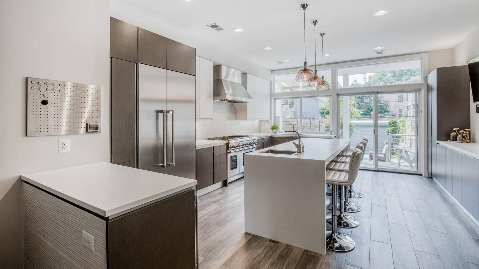 Кухня-гостиная 16 кв. м: дизайн-проекты студии, фото интерьера в доме и квартире