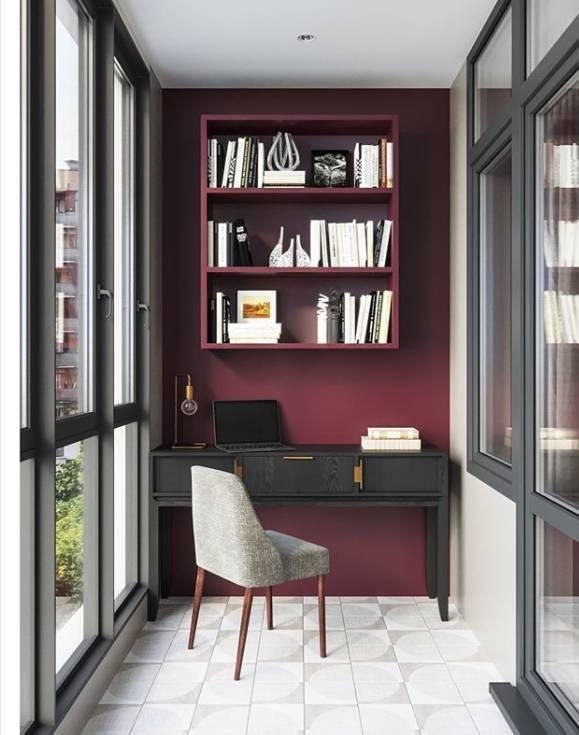 Дизайн кабинета на балконе — 11 фото