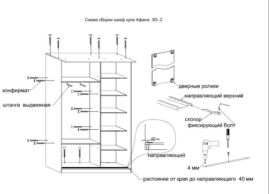 Шкаф-купе своими руками. мастер-классы: 370 фото + чертежи