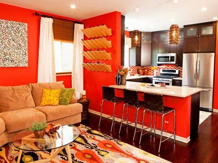 Оранжевая кухня в интерьере: фото сочетания интерьеров, практические советы