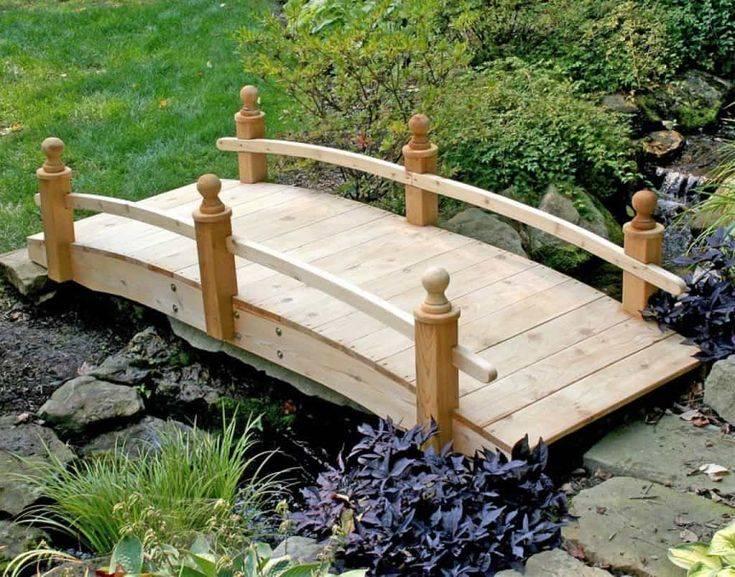 Декоративный мостик своими руками фото пошагово в