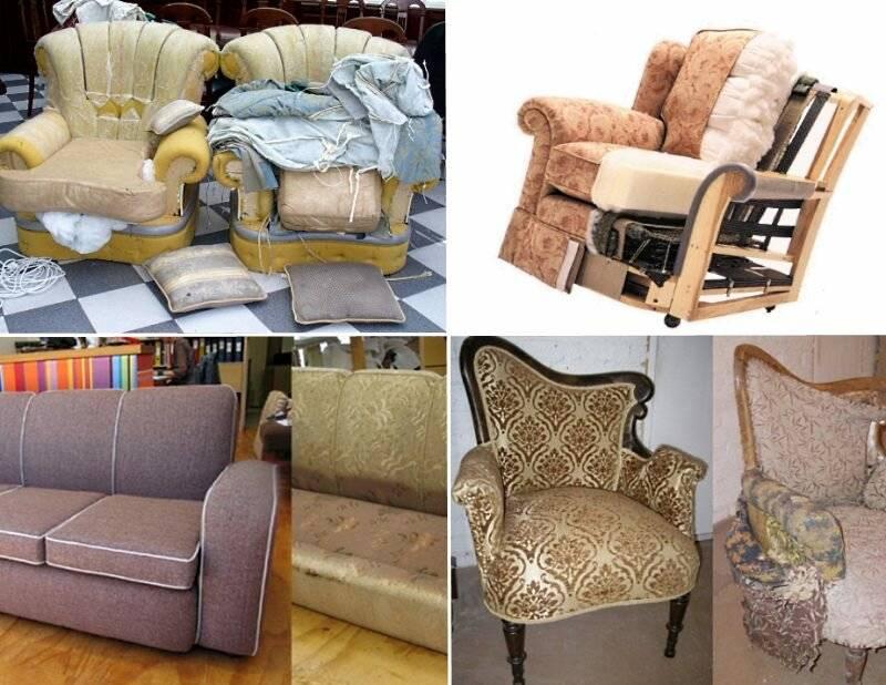 как перетянуть диван своими руками фото вариант