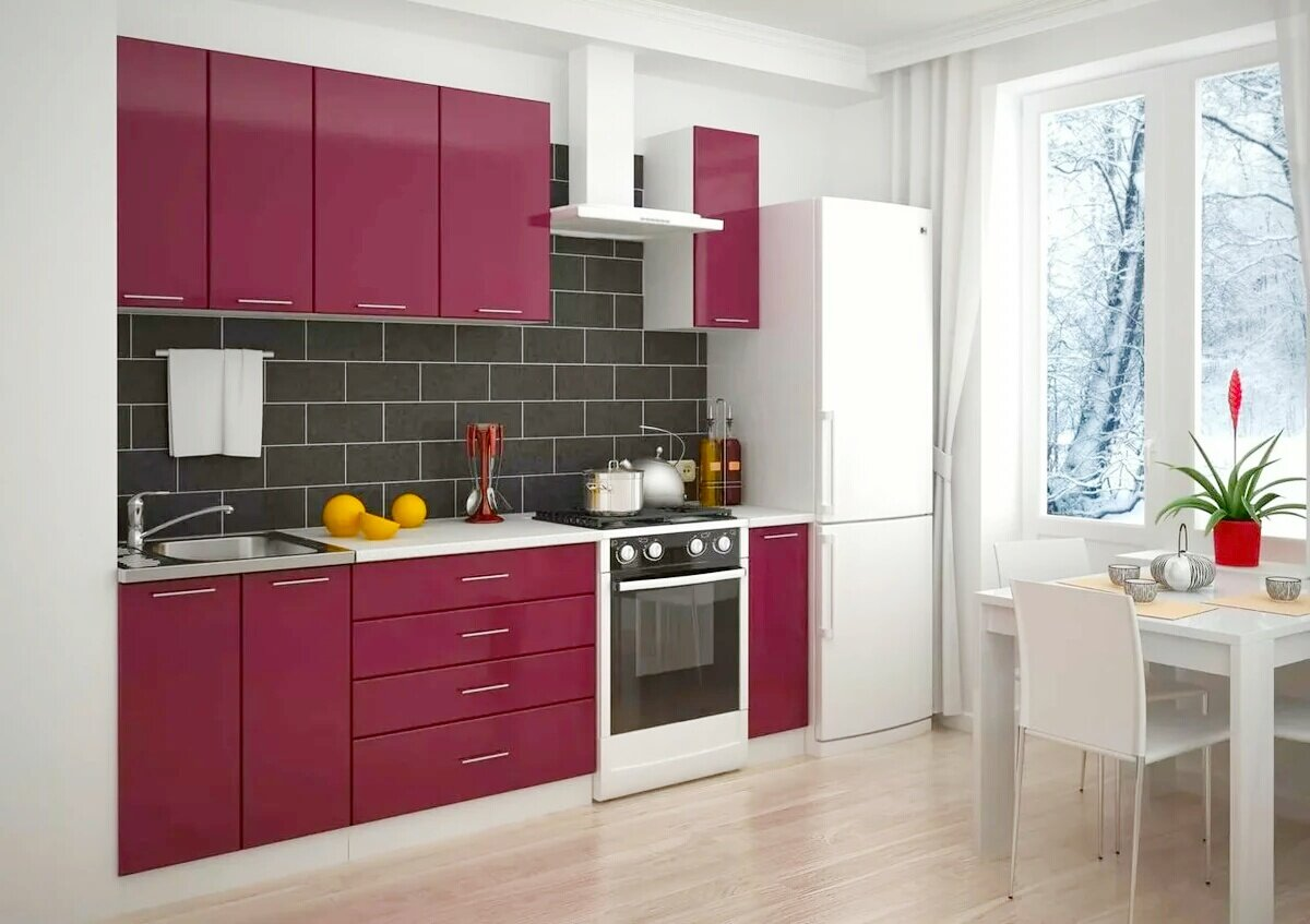 Кухни прямые в картинках
