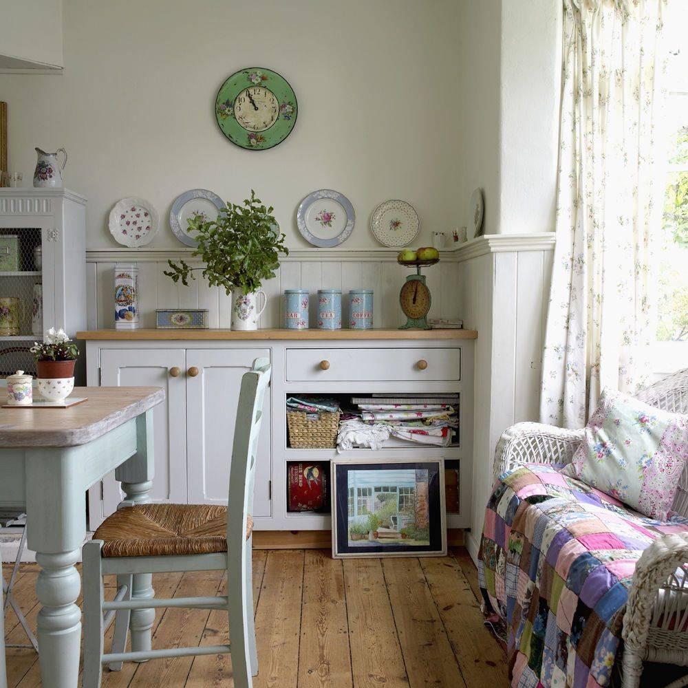 Кухня в сите прованс: 99 фото, сочетаем обои и шторы