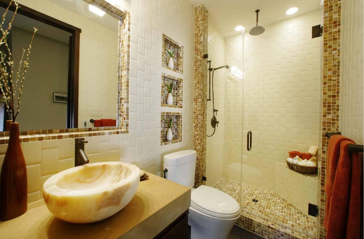 Мозаика в ванной: секреты дизайна интерьера и 75 фото идей