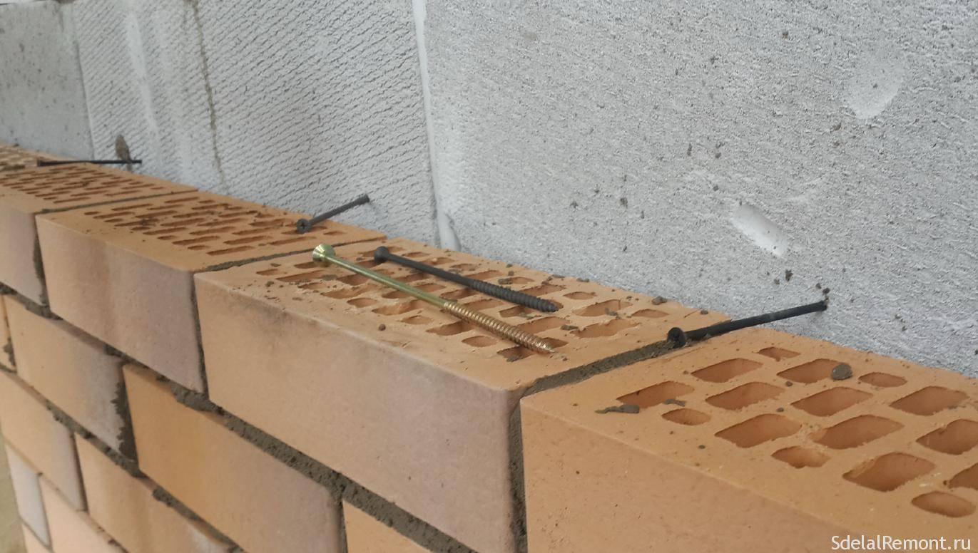 Гибкие связи для кладки кирпича: основные моменты в работе