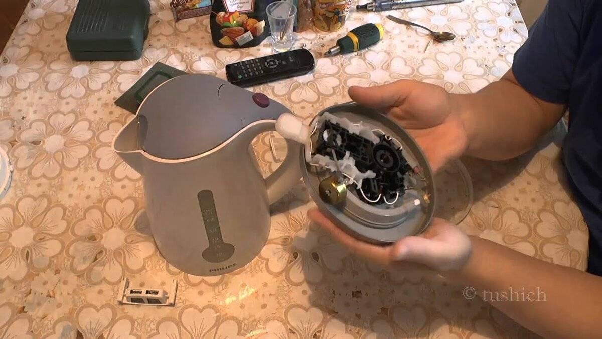 Чем заклеить стекло на электрическом чайнике?
