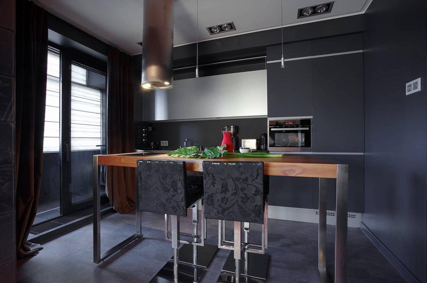 Популярные идеи интерьера кухни в стиле хай-тек
