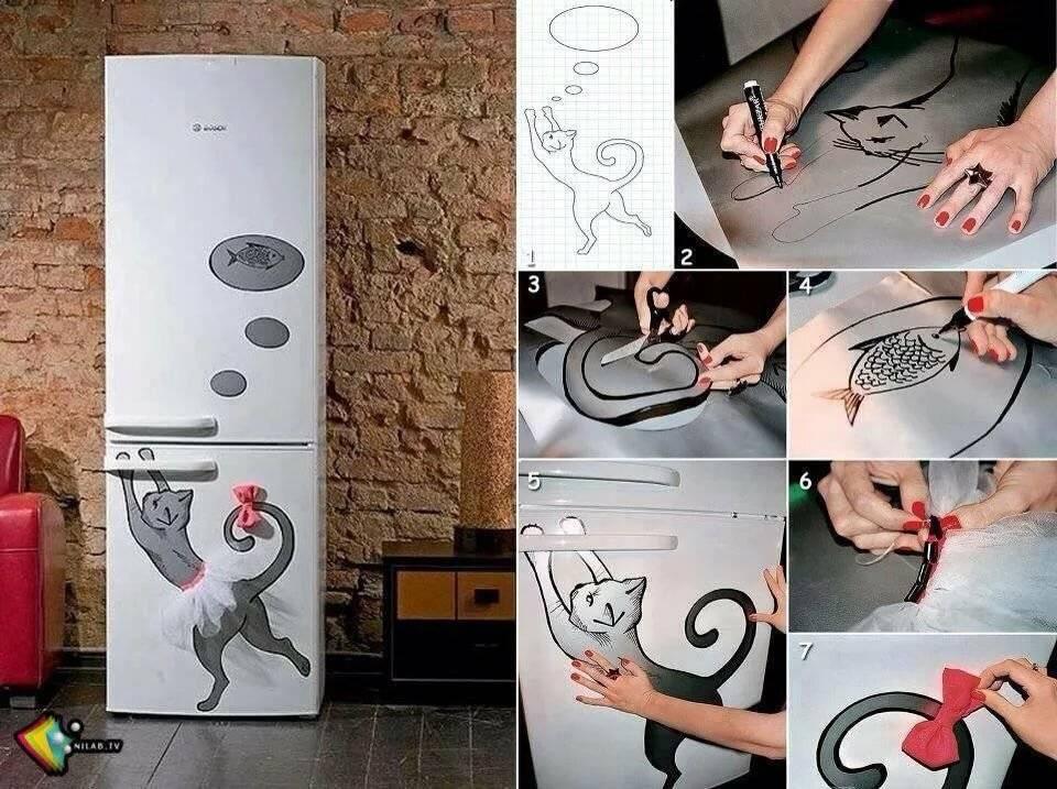 как можно украсить холодильник своими руками фото значит