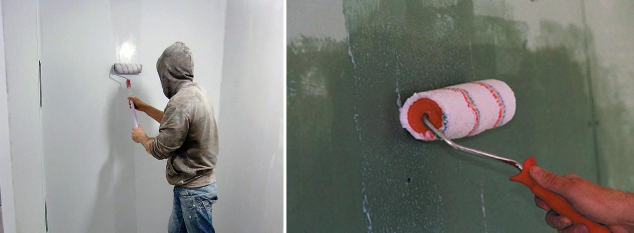 Обязательно ли грунтовать стену из гипсокартона перед поклейкой обоев