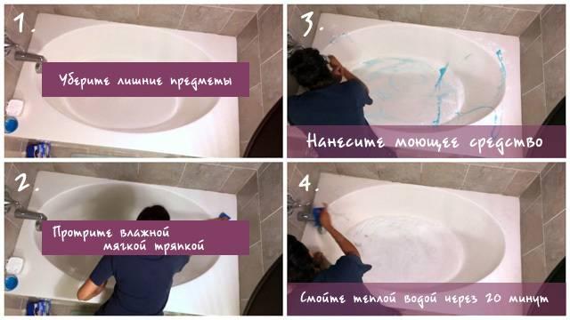 Как ухаживать за акриловой ванной: полезные советы