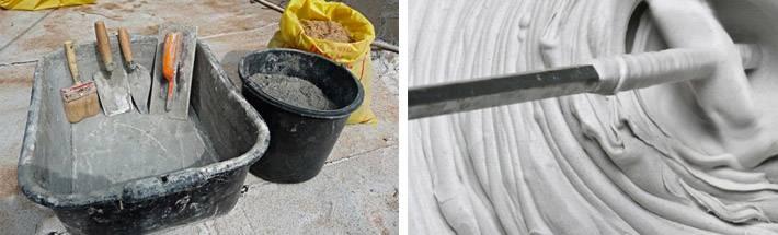 Как разводить цемент: таблицы и пропорции