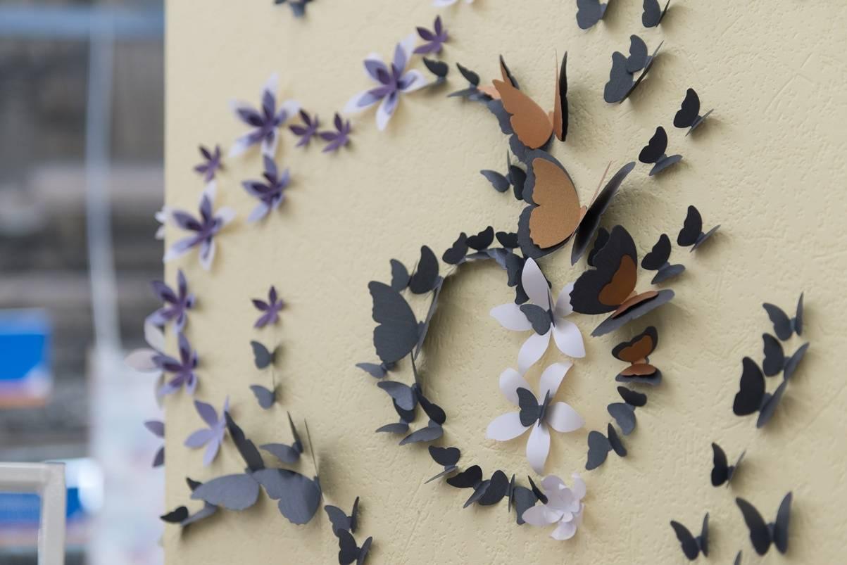 Картинки панно из бабочек