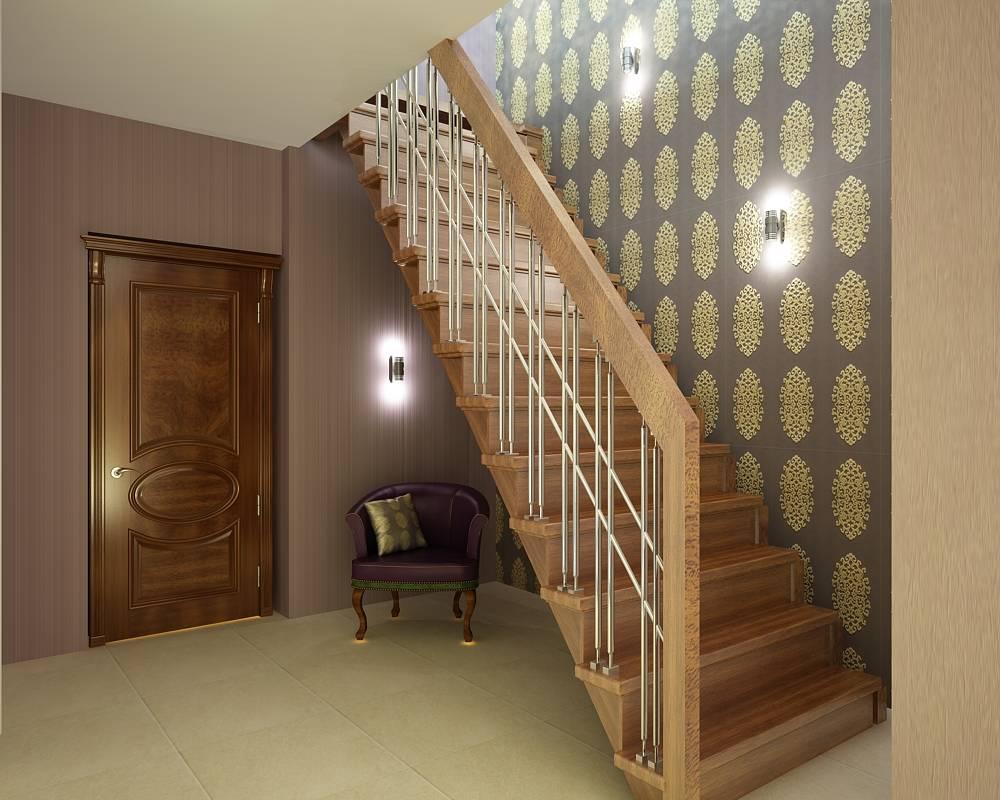 прихожие с лестницей на второй этаж фото обратить внимание