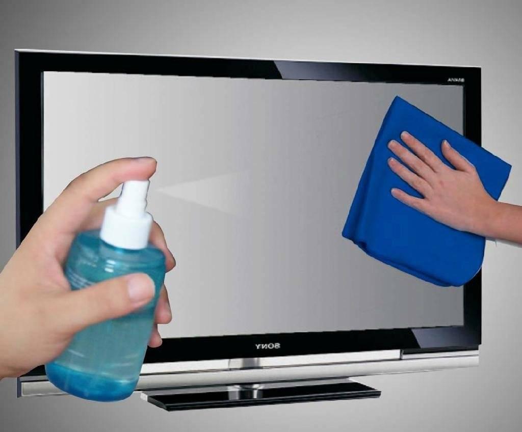 Чем протирать экран телевизора? чем можно помыть жк-экран в домашних условиях? как протереть без разводов?