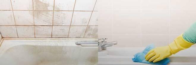 Чем отмыть кафельную плитку в ванной от налета: народными средствами (отзывы, способы)