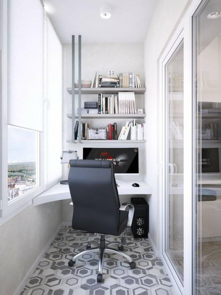 Рабочее место на балконе фото