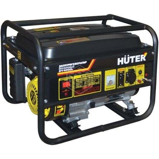Все о бензиновых генераторах huter