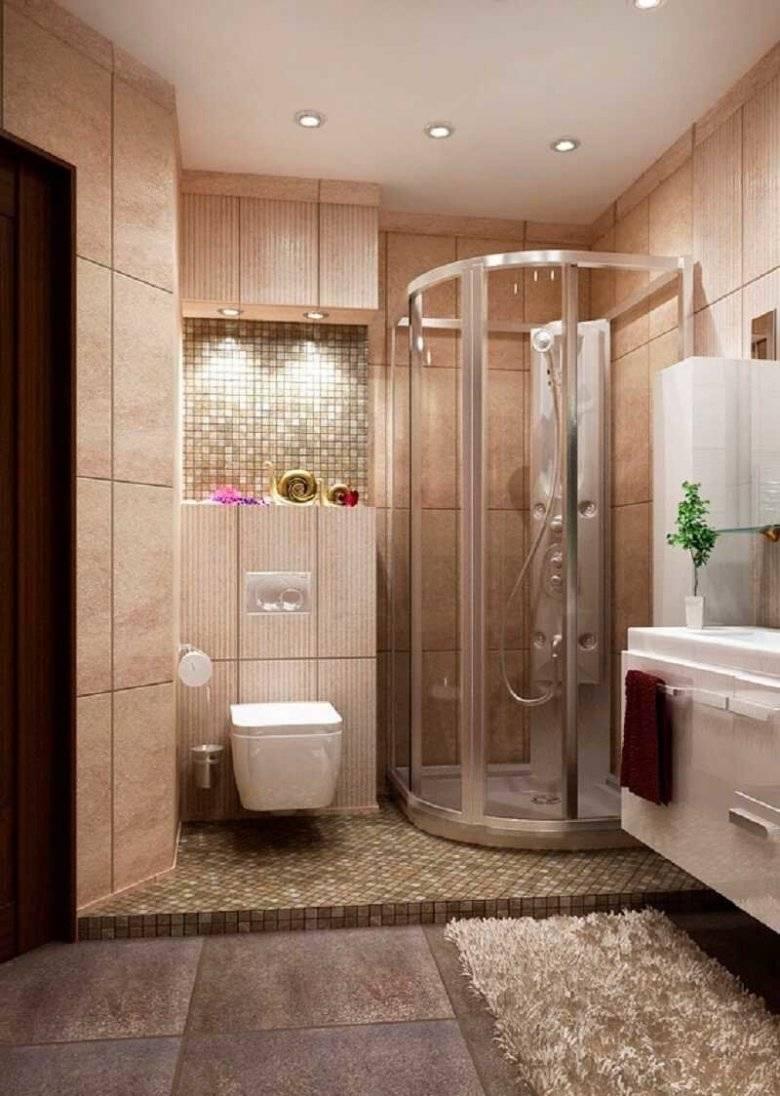Дизайн ванной комнаты с душевой кабиной: фото в интерьере, варианты обустройства