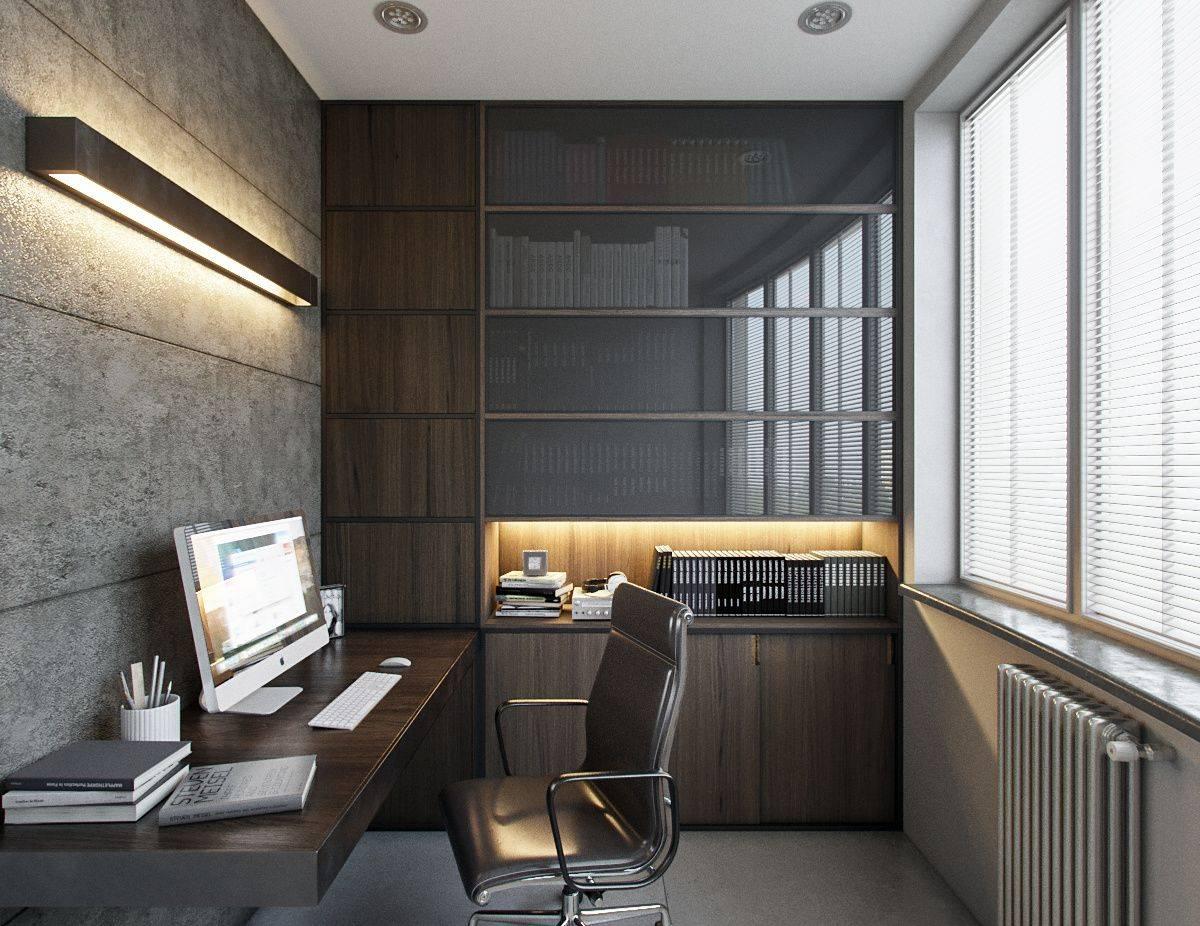 Оформление кабинета на балконе: 5 критериев выбора цвета