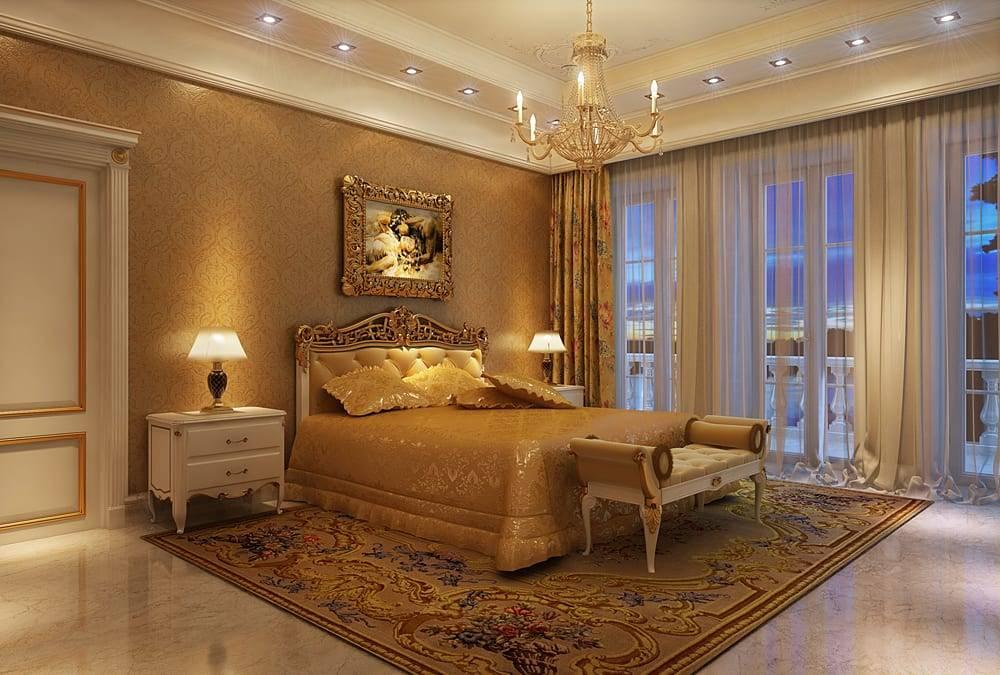 картинки спальни в классическом стиле делать