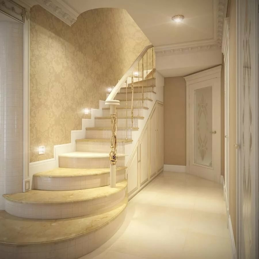 Ремонт на лестнице в частном доме фото