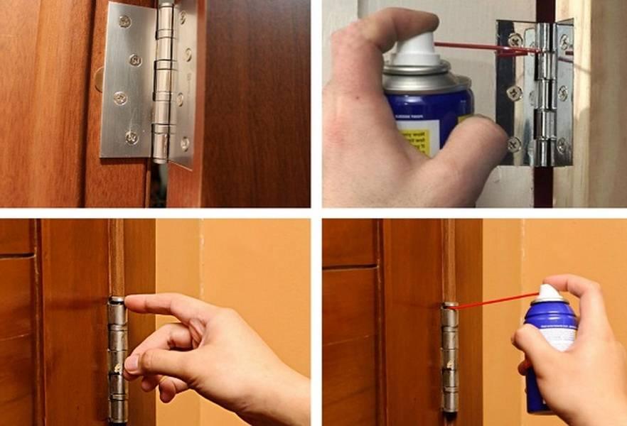 Чем смазать дверные петли? как смазывать петли не снимая дверь, чтобы они не скрипели? выбираем смазку для входной металлической и межкомнатной двери
