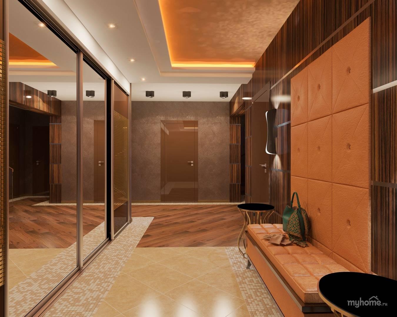 группы большая прихожая фото с длинным коридором особенность