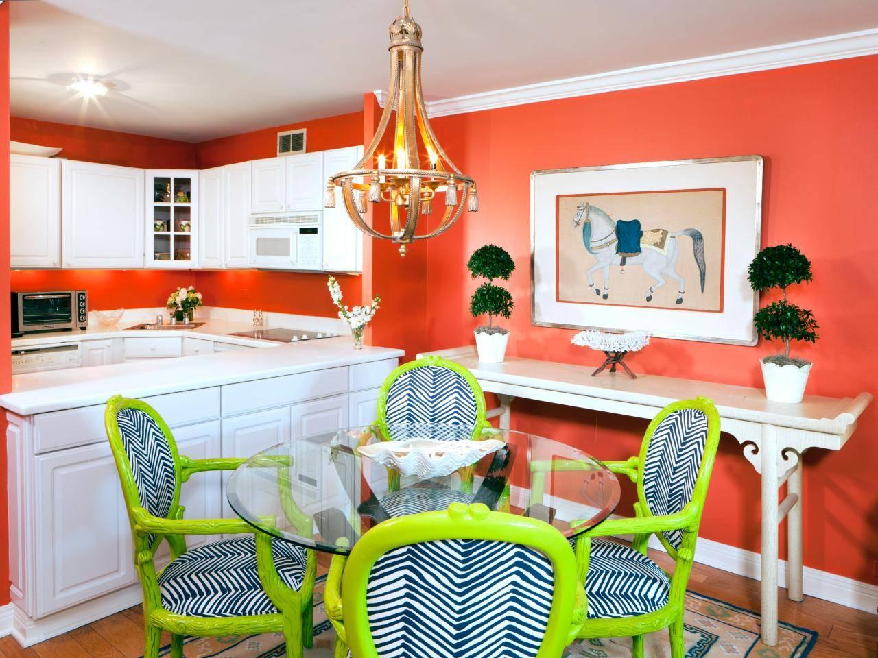 Кухня оранжевого цвета – аппетитная и жизнерадостная