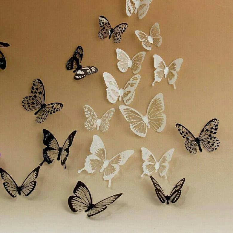 Как распечатать трафарет или шаблон бабочки из бумаги