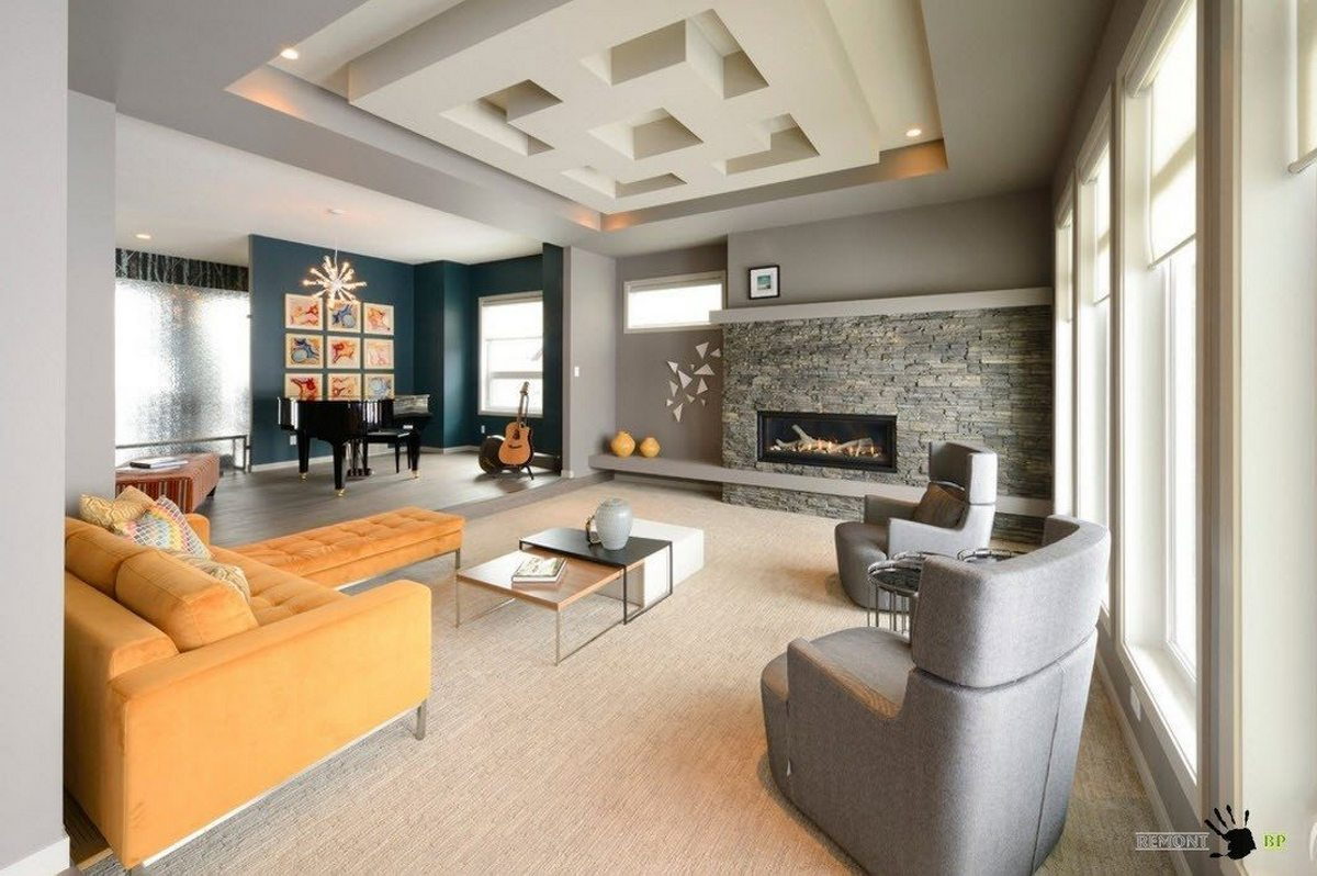 Дизайн зала в частном доме: примеры обустройства комнаты, фотографии интерьера