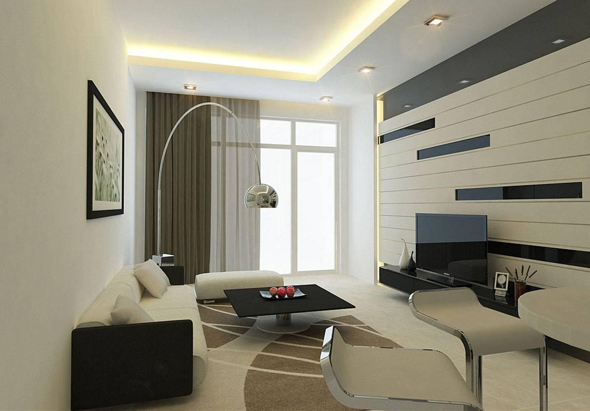 Интерьер гостиной в современном стиле эконом-класса