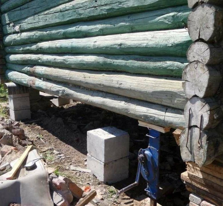 Укрепляем фундамент старого деревянного дома