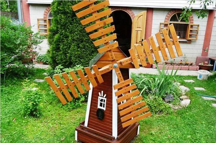 Мельница для сада своими руками фото инструкция