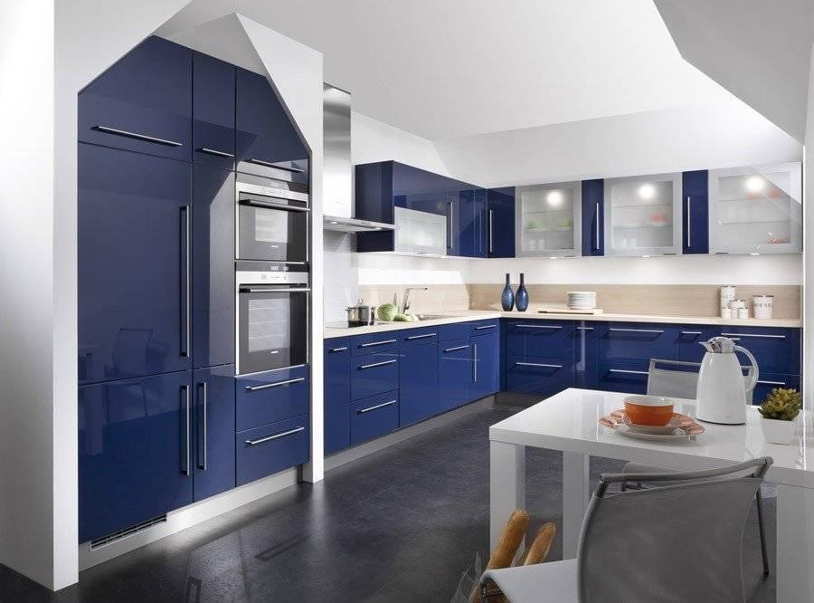 Картинка на кухню в синих тонах